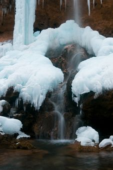 Free Frozen Waterfall Stock Photos - 9595893