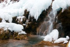 Free Frozen Waterfall Stock Image - 9596131