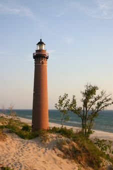 Free Little Sable Point Lighthouse Stock Images - 9597244