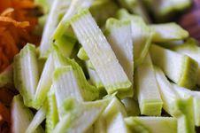 Free Sliced Zucchini Royalty Free Stock Photos - 9597988