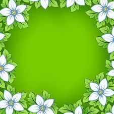 Free Flower Frame Royalty Free Stock Image - 9598776