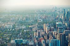 Free Aerial Of City Skyline Royalty Free Stock Image - 95931666