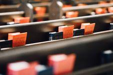Free Prayer Books On Church Pews Royalty Free Stock Photos - 95931758