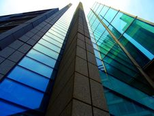 Free Glass And Steel Modern Architecture Stock Photography - 95931782