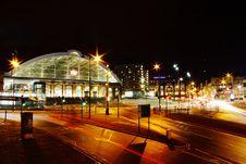 Free Illuminated Train Station At Night Stock Images - 95931824