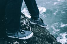 Free Low Section Of Man Wearing Shoes Stock Photos - 95931873