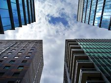 Free Downtown Buildings Stock Image - 95931891