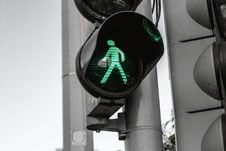 Free Green Light For Pedestrians Stock Photos - 95931943