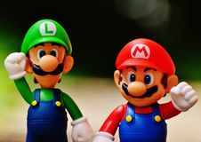 Free Luigi And Super Mario Figure Stock Image - 95996911