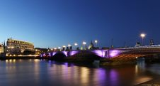 Free Bridge Beside River And City Lights During Night Time Royalty Free Stock Photos - 95996918
