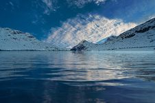 Free Clouds Reflecting In Alpine Lake Stock Photo - 95997000