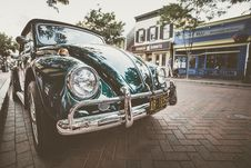 Free Vintage Car On Street Stock Image - 95997011