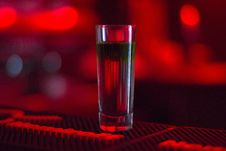 Free Shot Glass On Bar Counter Royalty Free Stock Photo - 95997295