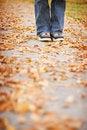 Free Shoes On Sidewalk Stock Image - 964961