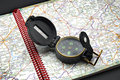 Free Compass On The Map Stock Photo - 966140