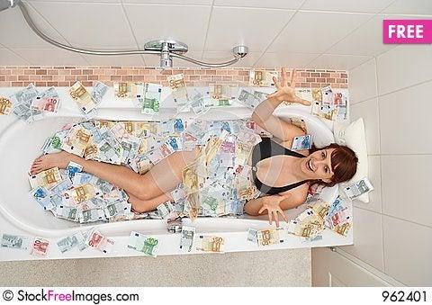 Free Money Shower Stock Image - 962401