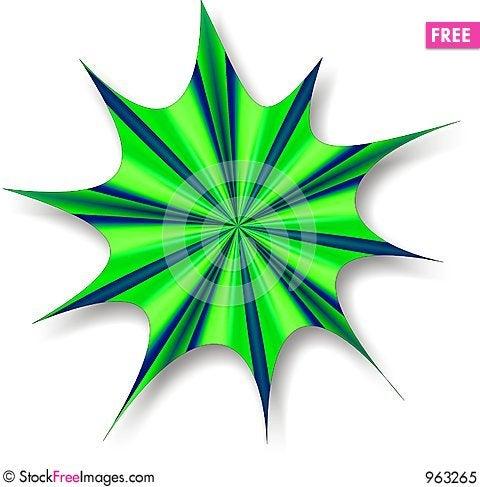 Free Green Blue Splat Royalty Free Stock Photo - 963265