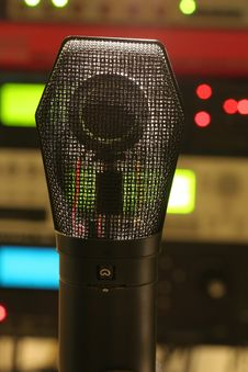See Through Condenser Microphone Royalty Free Stock Image