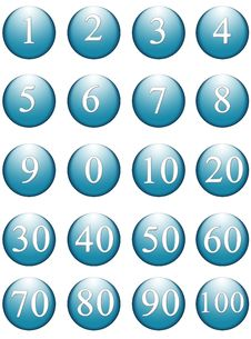 Free Numbers Round Web Items Stock Photo - 965590