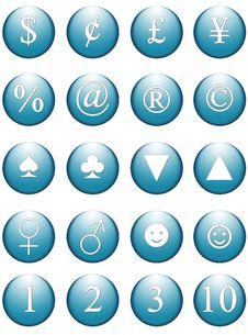 Free Office Blue Web Symbols Royalty Free Stock Photography - 965597