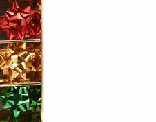 Free Christmas Bows Background Stock Photos - 965923