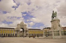 Praca Do Comercio In Lisbon Stock Images