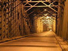 Free Iron Bridge At Night Stock Photos - 966353
