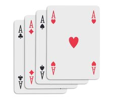 Free Four Aces Royalty Free Stock Photography - 966507