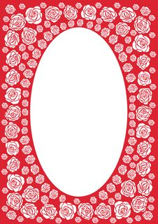 Free Red Rose Frame Royalty Free Stock Photo - 967515