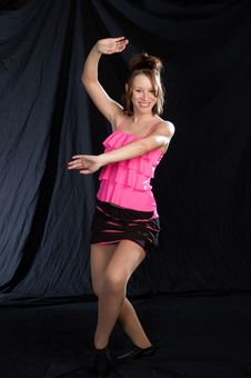 Jazz Dancer In Pink Stock Images