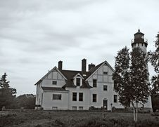 Free Light House Black And White Stock Photos - 969213