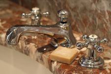 Free Faucet With Soap Stock Image - 969641