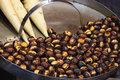 Free Roasted Colorful Chestnuts In Street Cafe Stock Images - 9601664