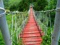 Free Wooden Hanging Bridge Royalty Free Stock Photos - 9603398
