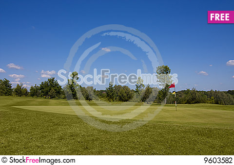 Free Red Flag On Hole Stock Photography - 9603582