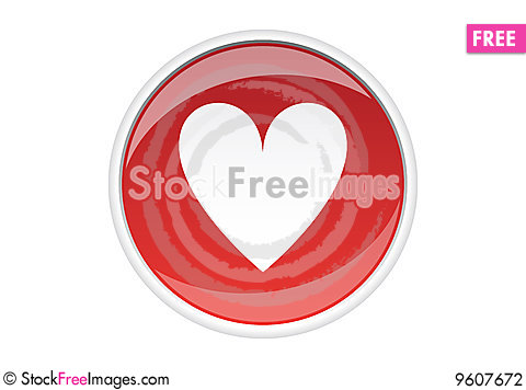 Free Love Sticker Stock Photography - 9607672