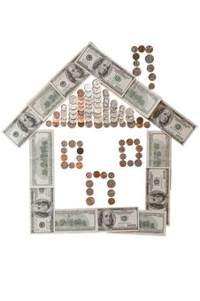 Free Money House Stock Image - 9601571