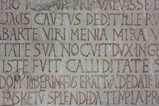 Free Medieval Latin Catholic Inscription Stock Photos - 9601823