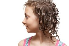 Free Beautiful Girl In Profile Royalty Free Stock Images - 9601869