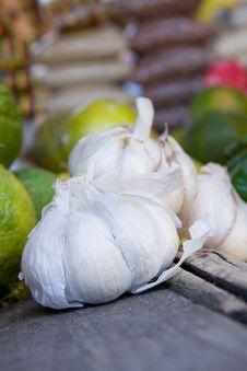 Garlic Whole Stock Image