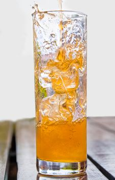 Pouring Soft Drink Royalty Free Stock Photo