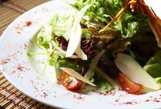 Plate Of Salad On The Table Stock Image