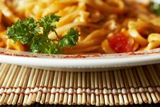 Free Plate Of Spaghetti Royalty Free Stock Images - 9602979