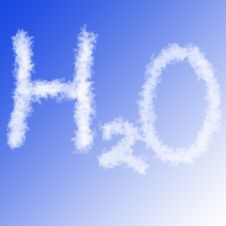 Free H2o On Blue Sky Royalty Free Stock Photo - 9603225