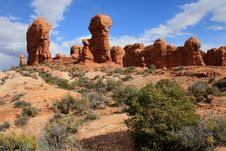 Free Arches National Park Mushroom Rocks Stock Photos - 9603373