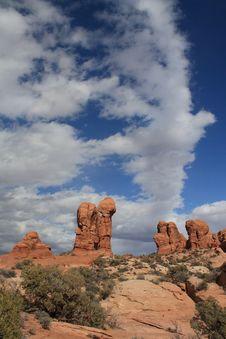 Free Arches National Park Mushroom Rocks Stock Image - 9603431