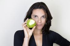 Free Apple Woman Stock Photo - 9603630