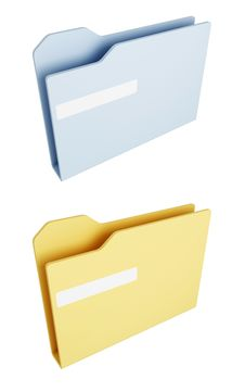 Free Blue And Yellow Folders Royalty Free Stock Photography - 9603707