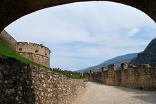 Free Medieval Castle. A Fragment. Stock Image - 9603971