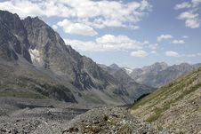 The Valley Of The Glacier Myushtu-Ayry Stock Images